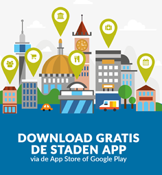 Download de Staden-app via de App Store of Google Play