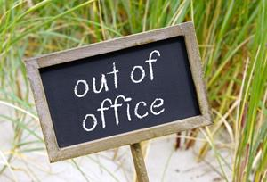 Out of office-bord